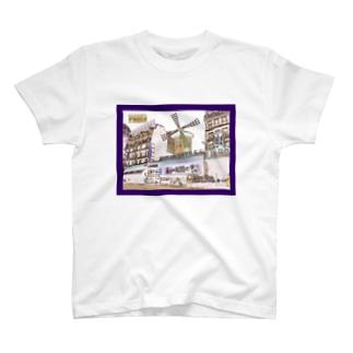 CG絵画:モンマルトルのキャバレー CG art: Cabaret à Montmartre T-shirts