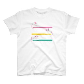 まうすブラシ T-shirts