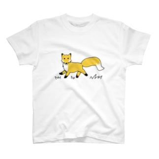 Mナオキのキタキツネ T-shirts