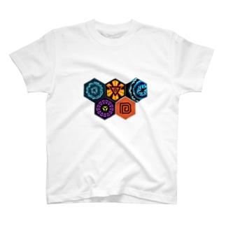 Ingress アノマリーメダル T-shirts
