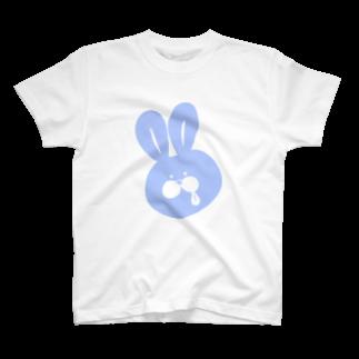 10円のうさぎのうさペロ【ブルー】 T-shirts