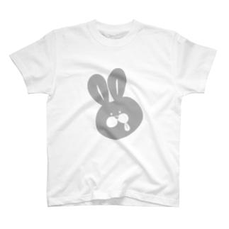 うさペロ【グレー】 T-shirts