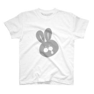 10円のうさぎのうさペロ【グレー】 T-shirts