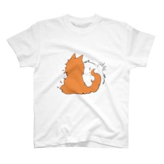冒涜的な猫グア(背中色付き) T-shirts