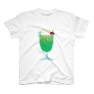 とけねこ クリームソーダ T-shirts