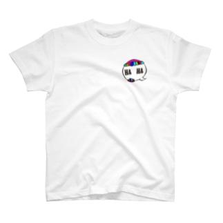 HA HA カラーTシャツ T-shirts