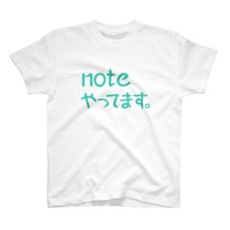 noteやってます Tシャツ