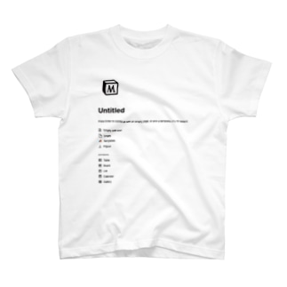 M-untitled Basic T-Shirt notion T-shirts