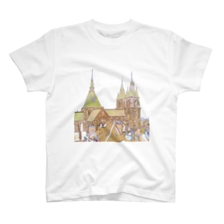 CG絵画:ブロワのサン・二コラ教会 CG art: Eglise St Nicolas / Blois  T-shirts