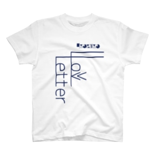 -LoveLetter-    A-Navy T-shirts