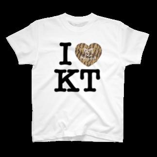 SHOP W SUZURI店のI ♥ Kiji Tora Tシャツ T-shirts