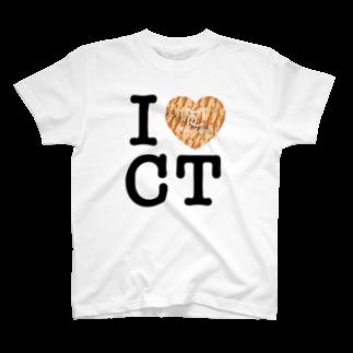 SHOP W SUZURI店のI ♥ Cha Tora Tシャツ T-shirts