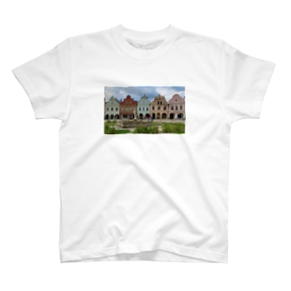 チェコ テルチの街並み T-shirts
