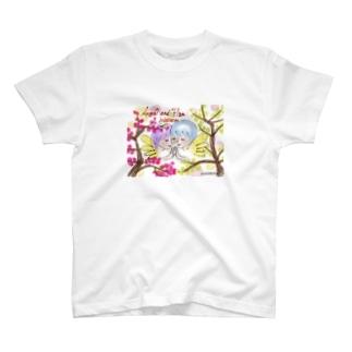Ang31エンジェルと梅の花 T-shirts