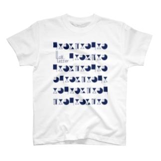 -LoveLetter-    B-Navy T-shirts