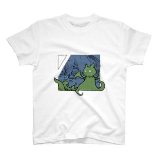 冒涜的な猫ルフ(色付き) T-shirts