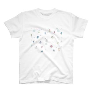 ぷくぷくぱすてる部屋着(白色) T-shirts