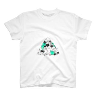 トライアングルキャット T-shirts