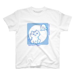 みえてしまうにゃんこ T-shirts