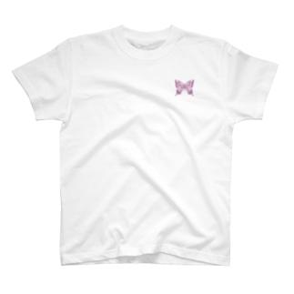 アゲハ×蝶蝶蝶(pink)【両面プリント】 T-shirts