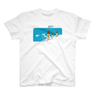 雲の上へのゆうびんはいたつ T-shirts