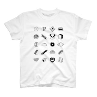 Pモノグラム_BK T-shirts