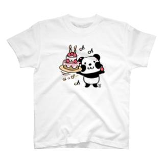 kyu13ズレぱんだちゃんのはっぴー T-shirts