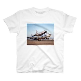 スペースシャトル&ボーイング747改 T-shirts