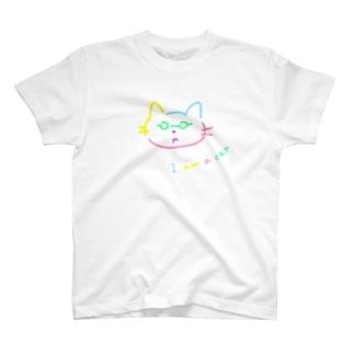 不満げなネコ T-shirts