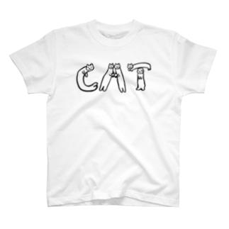 ねこ文字ねこ 【復刻版】 T-shirts