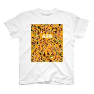ASBスタッフキャラクターアイテム(オレンジ) T-shirts