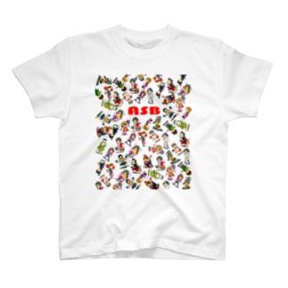 ASBスタッフキャラクターアイテム(白) T-shirts