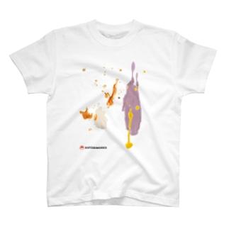 シミ汚れを隠すならシミ柄の中 T-shirts