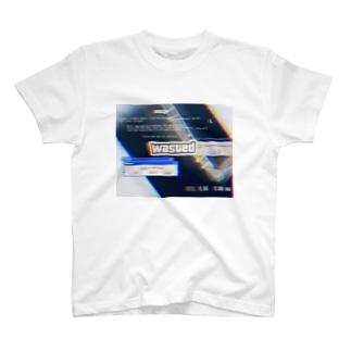 左骨 wasted T-shirts
