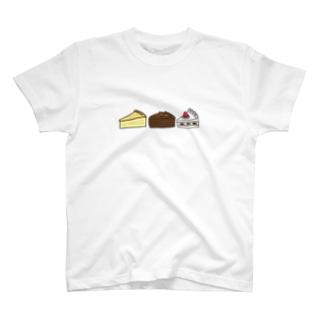 3つのケーキ T-shirts