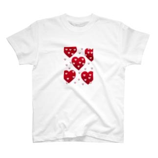 LOVE❤️LOVE ハート T-shirts