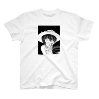 愛娘(仮):夏の香り・モノクロ T-shirts