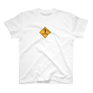 歩きスマホ注意!! T-shirts