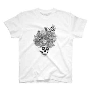 51-86のガイコツアフロ T-shirts