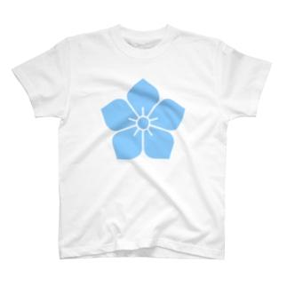明智光秀(水色桔梗紋) T-Shirt