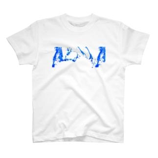 in AQUA T-shirts