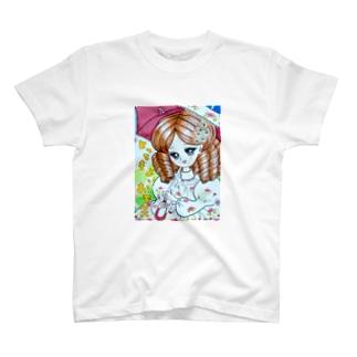 日傘の女の子 T-shirts