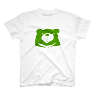 Green-with white edge T-shirts