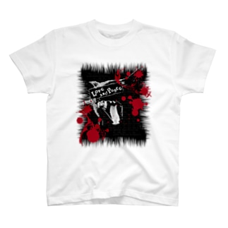Lunatic Cat-ismのLove and Piece T-shirts