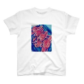 北陸からやってきた香箱ガニ4兄弟 T-shirts