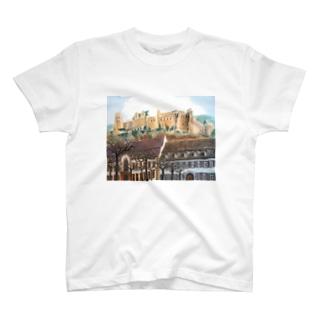 丘の上の古城 T-shirts