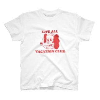 いぬねこちゃん/LIFE ALL VACATION CLUB T-shirts