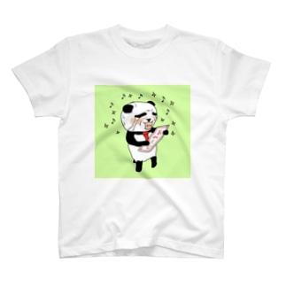 あみぐじ当たっちゃったパンダくん T-shirts