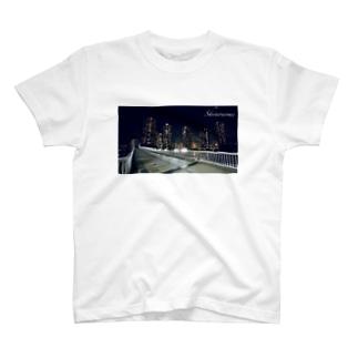 辰巳桜橋からの東雲夜景 T-shirts