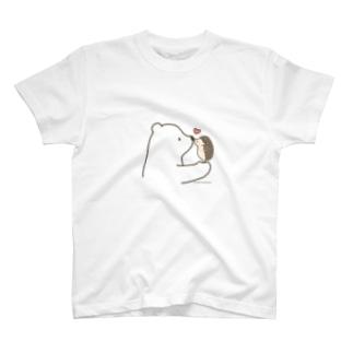 しろくま&ハリネズミ T-shirts